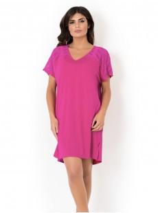Maxi T-shirt - Rose foncé - Mirachic - Miradonna