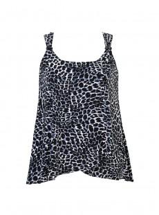 "Dazzle Tankini Top - Luxe Leopard - ""M"" - Miraclesuit swimwear"