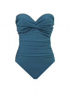 "Maillot de bain gainant Barcelona Bleu Canard - Les Unis- ""M"" - Miraclesuit swimwear"