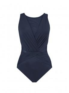 "Maillot de bain gainant Palma Bleu Marine - Les Unis - ""M"" - Miraclesuit swimwear"