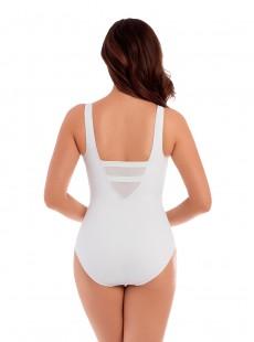 "Maillot de bain gainant It's a Cinch Blanc - Illusionists - ""M"" - Miraclesuit swimwear"