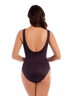 "Maillot de bain gainant Jewel Box Brun - Treasure Island - ""M"" - Miraclesuit swimwear"