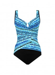 "Maillot de bain gainant Layered Escape - Night Lights - ""M"" - Miraclesuit swimwear"
