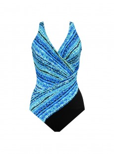 "Maillot de bain gainant Oceanus - Night Lights - ""M"" - Miraclesuit swimwear"