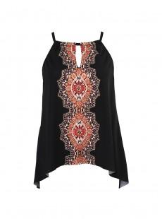 """Peephole Tankini Top - Mandala - """"FC"""" - Miraclesuit swimwear"""