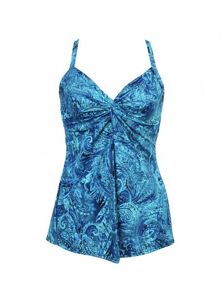 "Tankini Love Knot - Mediterra - ""M"" - Miraclesuit swimwear"