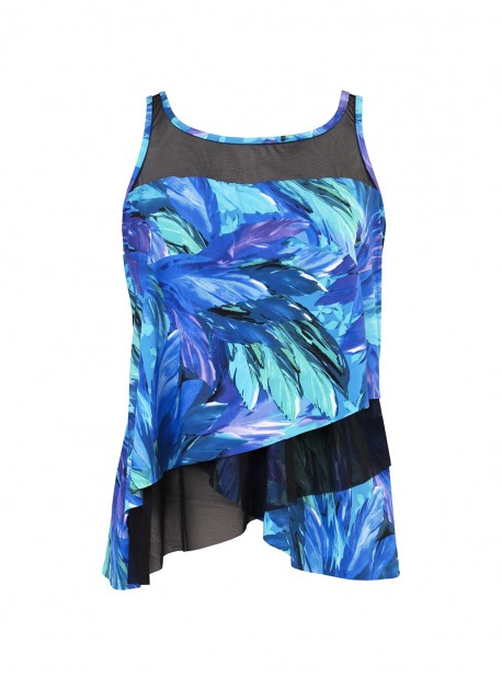 """Mirage Tankini Top - Flamenco - """"M"""" - Miraclesuit swimwear"""