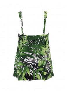 "Charm Tankini Top - Splendor In Seagrass - ""M"" - Miraclesuit swimwear"