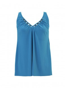 "Charm Tankini Bleu Canard - The Four Tops - ""M"" - Miraclesuit swimwear"