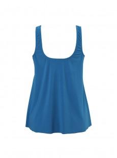 "Tankini Mariella Bleu Canard - Net Work - ""M"" - Miraclesuit swimwear"