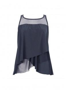 "Tankini Mirage Bleu Marine - Network - ""M"" - Miraclesuit swimwear"