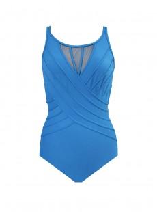 "Maillot de bain gainant Bandwidth Bleu Canard - Illusionists - ""M"" - Miraclesuit swimwear"