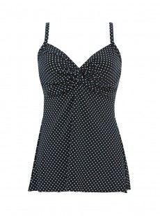 "Roswell Tankini Top - Pin Point - ""M"" - Miraclesuit swimwear"