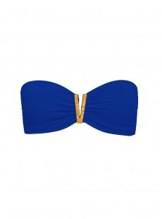 Haut de maillot de bain Bandeau Bijou Bleu Electrique - Color Mix