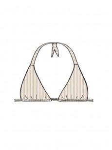 Haut de maillot de bain triangle Blanc - Havana Night - Luli Fama