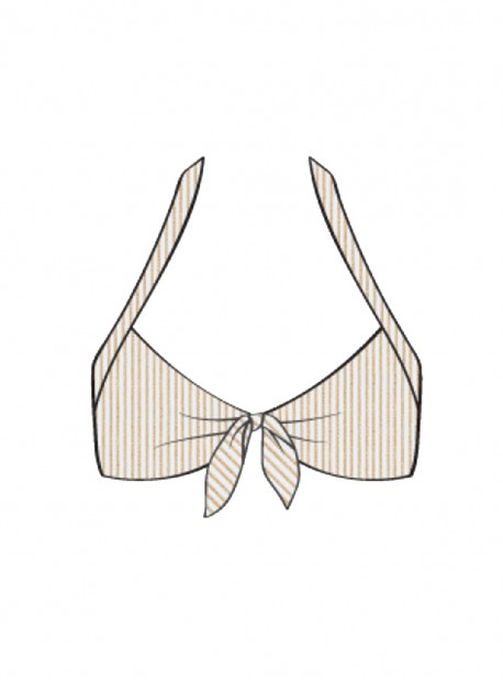 Haut de maillot de bain bandeau push-up Blanc - Havana Nights - Luli Fama