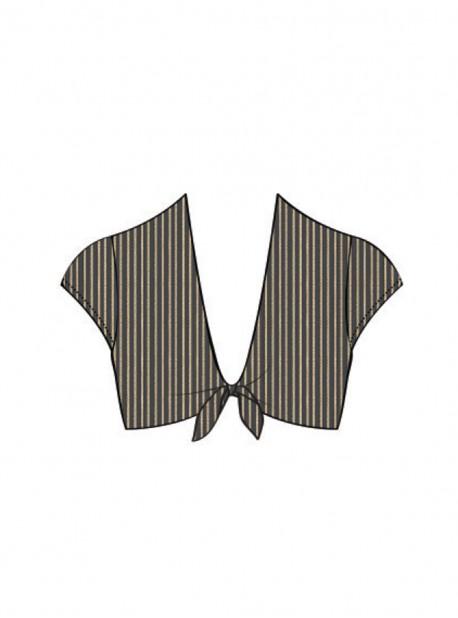 Haut de maillot de bain crop top Noir - Havana Nights - Luli Fama