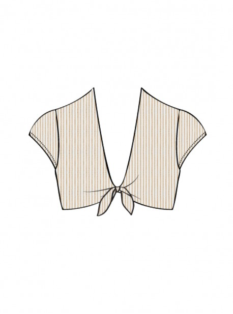 Haut de maillot de bain crop top Blanc - Havana Nights - Luli Fama
