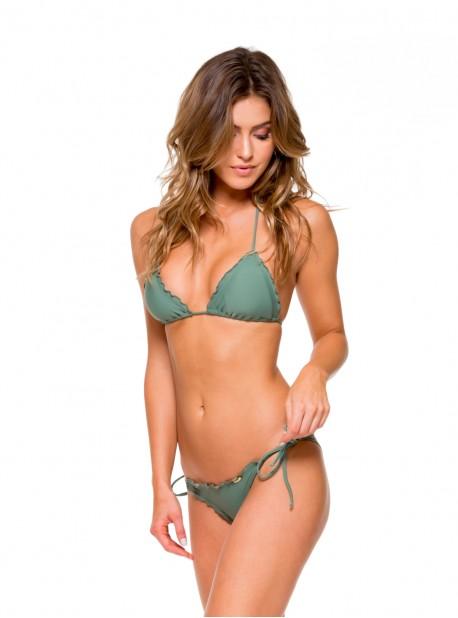Haut de maillot de bain triangle bikini Vert Militaire - Cosita Buena - Luli Fama