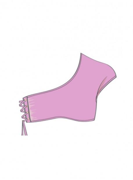 Haut de maillot de bain Asymétrique Rose - Mambo - Luli Fama