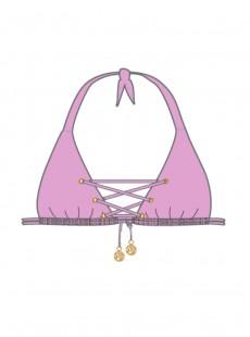 Haut de maillot de bain triangle Rose - Mambo - Luli Fama