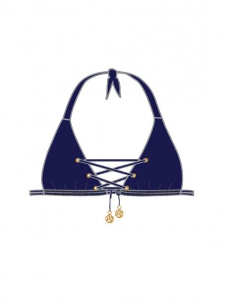 Haut de maillot de bain triangle Marino - Mambo - Luli Fama