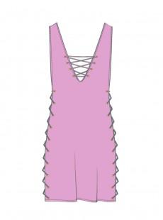 Robe lacée Rose - Mambo - Luli Fama