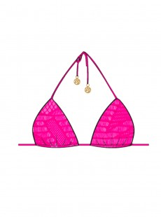 Haut de maillot de bain Triangle Bikini Fuchsia - El Carnaval - Luli Fama