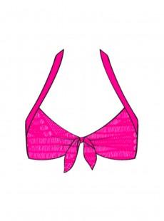 Haut de maillot de bain triangle Push Up Fuchsia - El Carnaval - Luli fama