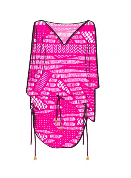Robe de plage Fuchsia - El Carnaval - Luli Fama