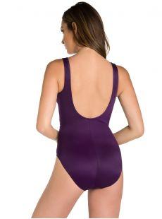 """Maillot de bain gainant Escape Prune -Les Unis - """"M"""" - Miraclesuit swimwear"""