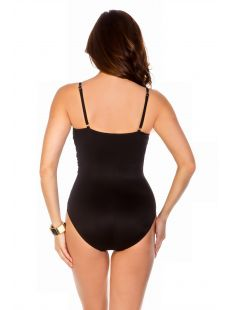 "Maillot de bain gainant Mystify Noir- Net Work - ""FC+"" - Miraclesuit swimwear"