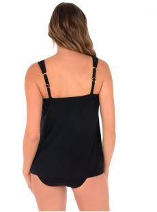 "Dazzle Tankini Top Noir - The Four Tops - ""M"" - Miraclesuit swimwear"