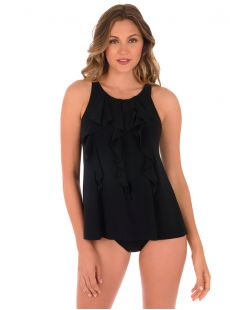 "Friller Tankini Top - The Four Tops - ""M"" - Miraclesuit swimwear"