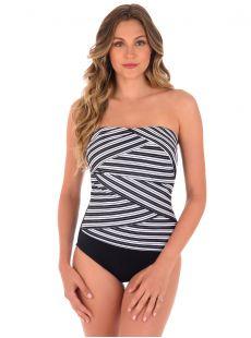 "Maillot de bain gainant Muse  - Mayan Stripe - ""M"" - Miraclesuit swimwear"