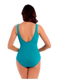 "Maillot de bain gainant Oceanus Bleu clair - Les Unis - ""W"" - Miraclesuit swimwear"