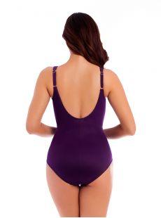 "Maillot de bain gainant Sanibel Prune - Les Unis - ""W"" - Miraclesuit swimwear"