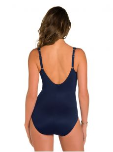 "Maillot de bain gainant Madero Bleu Marine - Net Work - ""W"" - Miraclesuit swimwear"