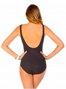"Maillot de bain gainant Oceanus Noir - Pin Point - ""W"" - Miraclesuit swimwear"