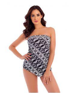"""Hankini Tankini Top - Tiki - """"W"""" - Miraclesuit swimwear"""