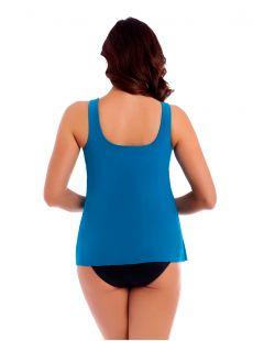 "Tankini Mariella Bleu Canard - Net Work - ""W"" - Miraclesuit swimwear"