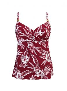"Criss Cross Tankini Top Criss Cross - Hibiskiss - ""M"" - Miraclesuit swimwear"