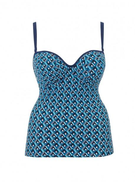 Tankini Wanderlust Blue Mix - Curvy Kate Swimwear