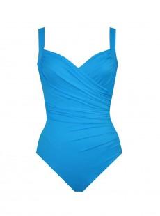 "Maillot de bain gainant Sanibel Turquoise - Grandes tailles ""W"" - Miraclesuit"