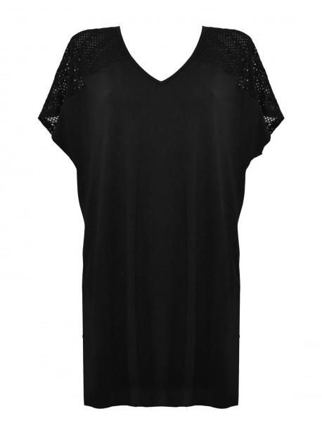 Maxi T-shirt Noir - Mirachic - Miradonna