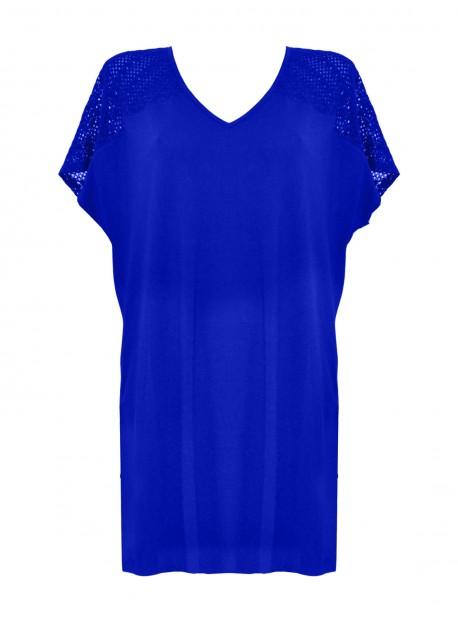 Maxi T-shirt - Bleu - Mirachic - Miradonna