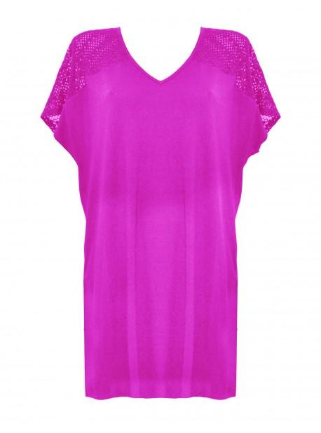 Maxi T-shirt - Rose - Mirachic - Miradonna