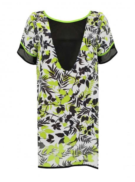 Maxi T-shirt manches courtes - Spring Moves - Miradonna