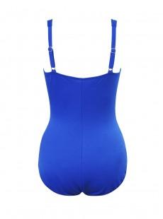 """Maillot de bain gainant Zip code Bleu - So Riche - """"W"""" - Miraclesuit swimwear"""