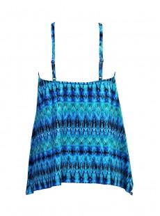 "Tankini Peephole - Cabana chic -""W"" - Miraclesuit Swimwear"